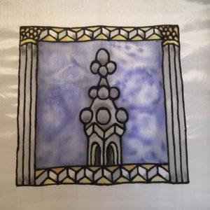 Silk painting by Helen Melhuish