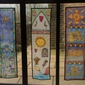 3 art panels